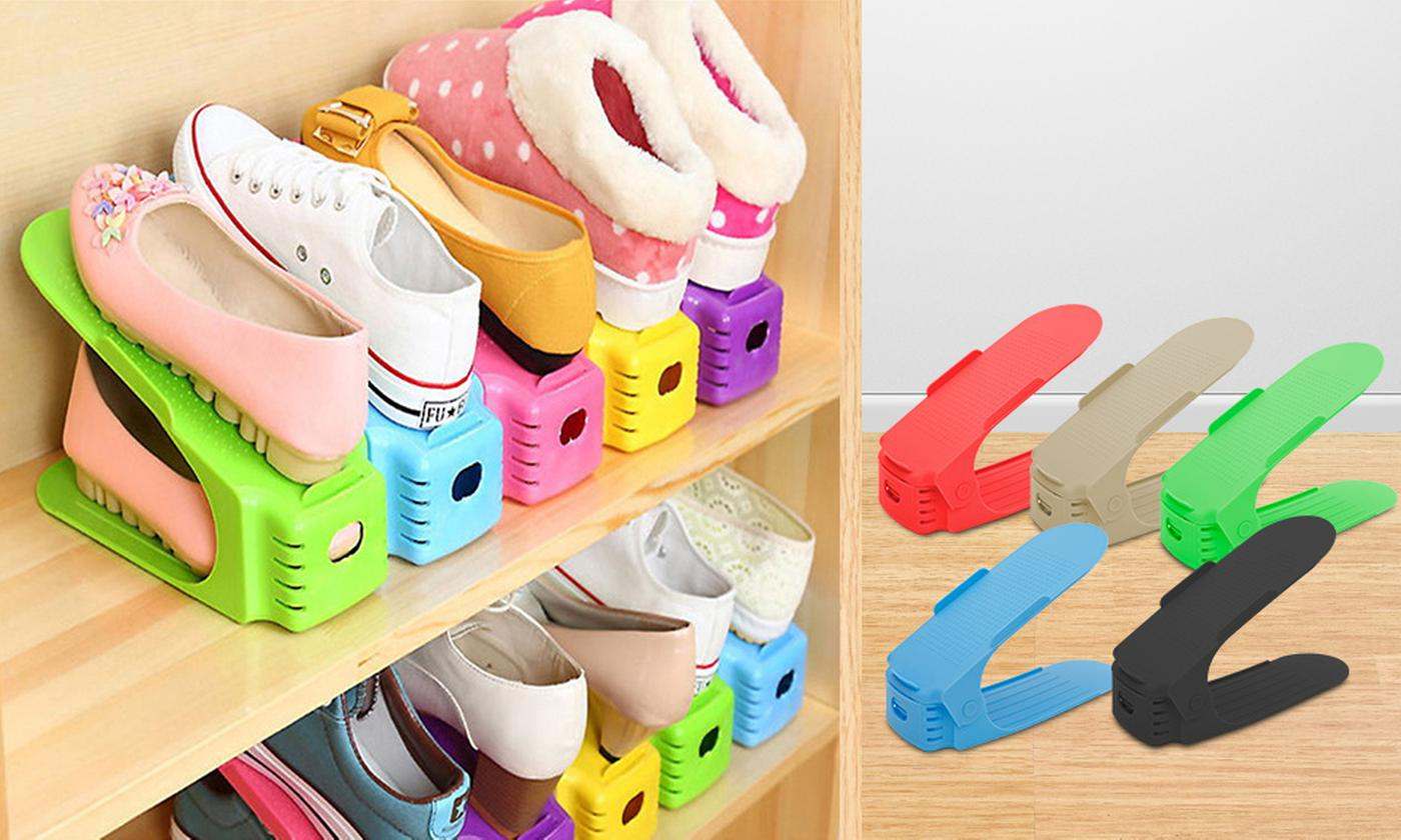Two, Four or Five Space-Saver Shoe Organisers from £4.50 (86% OFF)