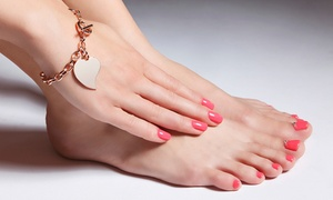 Graziano's Hair Studio: Gel Manicure and Classic Pedicure at Graziano's Hair Studio (Up to 52% Off). Three Options Available.