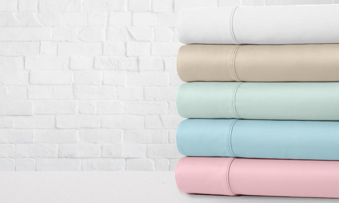 100 Cotton Percale Crisp And Cool 300 Thread Count Sheet Set 4 Pc