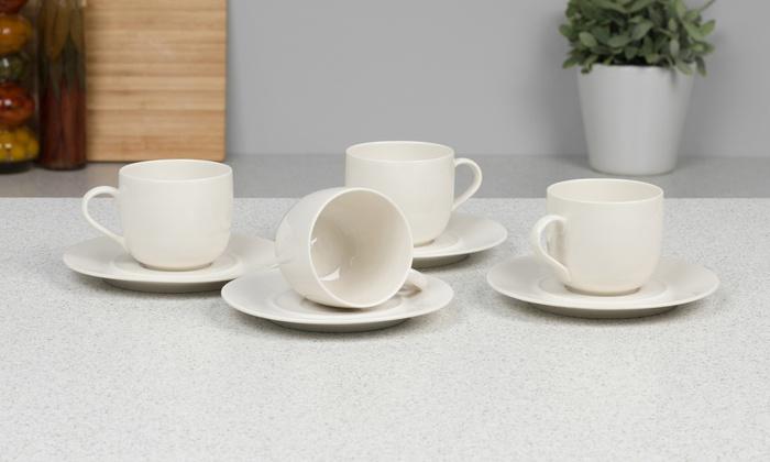 Alessi porcelain cups and saucers groupon goods - Alessi la bella tavola ...