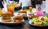 Burger inkl. Beilage und Dessert