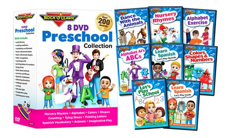 Rock 'N Learn Educational 8-DVD Preschool Collection