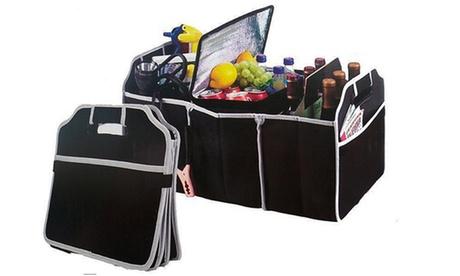 Organizador universal plegable para el maletero de coche
