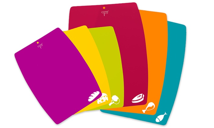 Core Kitchen BPA-Free Color-Coded Cutting Sheet Set (6-Piece) | Groupon