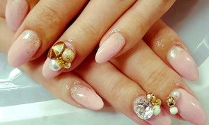 Nail de Rose: Gel Manicure with Pedicure at Nail de Rose (Up to 51% Off)