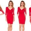 Trulee Women's V-Neck Wrap Dress (Size L)