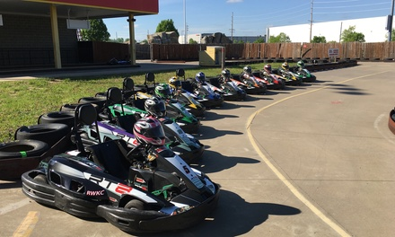 Race and License at Rusty Wallace Karting Centers (Up to 55% Off). 4 Options Available.