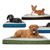 FurHaven Faux Sheepskin and Flannel Memory Foam Pet Bed