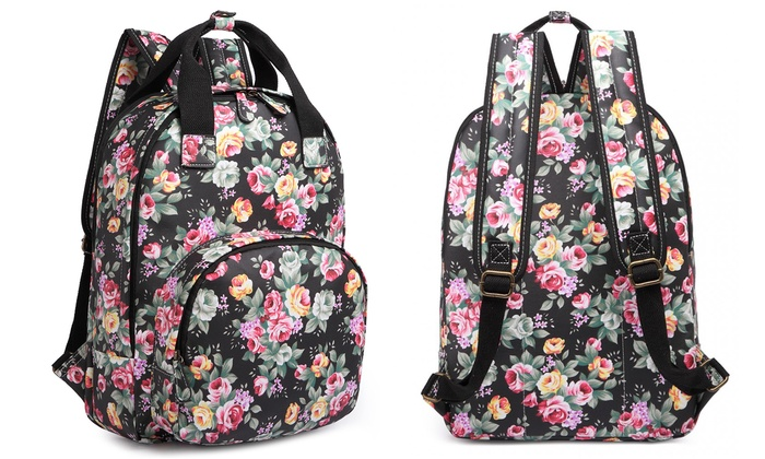 miss lulu rucksack mit print groupon goods. Black Bedroom Furniture Sets. Home Design Ideas