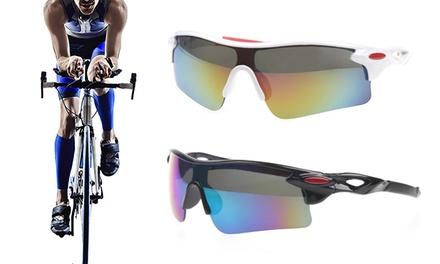 1 o 2 pares de gafas deportivas aerodinámicas disponibles en color blanco o negro
