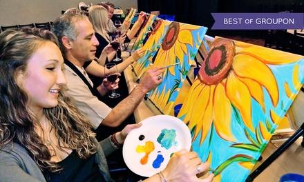 Three Hour Painting Class Painting Amp Vino Groupon