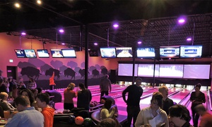 The Wild Game Entertainment Experience: Bowling, Food, and Arcade Package for Two or Four at The Wild Game Entertainment Experience (Up to 51% Off)
