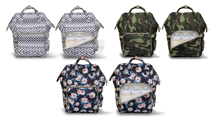 Up To 82% Off on Backpack Diaper Bag | Groupon Goods