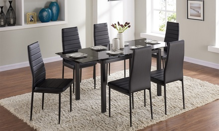 Grange dining table with chairs groupon for 12 in 1 game table groupon