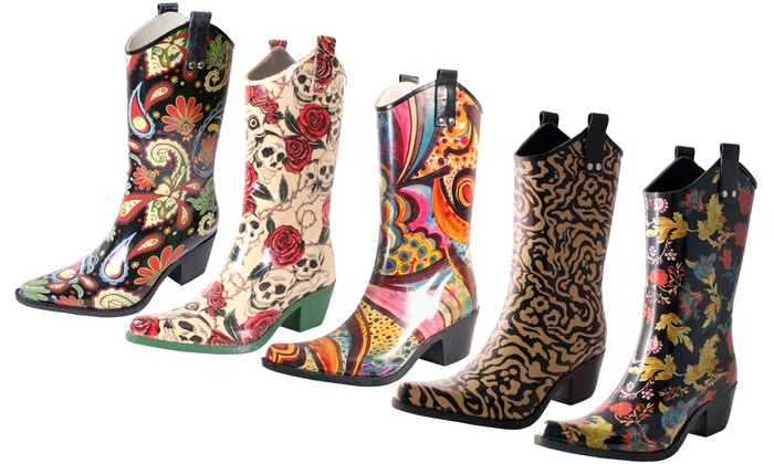 Cowboy Rubber Rain Boot