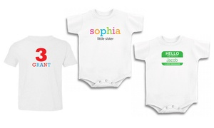 T-shirts And Baby Rompers From Superflykids (up To 62% Off). Two Options Available.