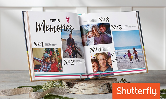 Shutterfly: 8x8, 8x11, 10x10, or 12x12 Custom Photo Book from Shutterfly (Up to 67% Off )