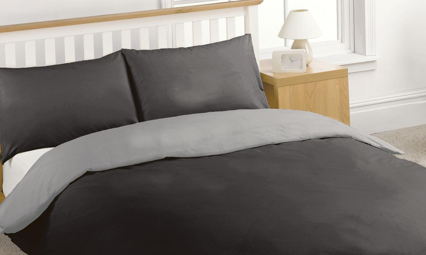 Reversible Percale Duvet Set for £12.98