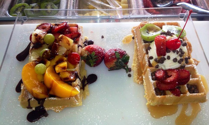 Fruity Waffles - Orlando: Sweet and Savory Waffles at Fruity Waffles (Half Off). Two Options Available.