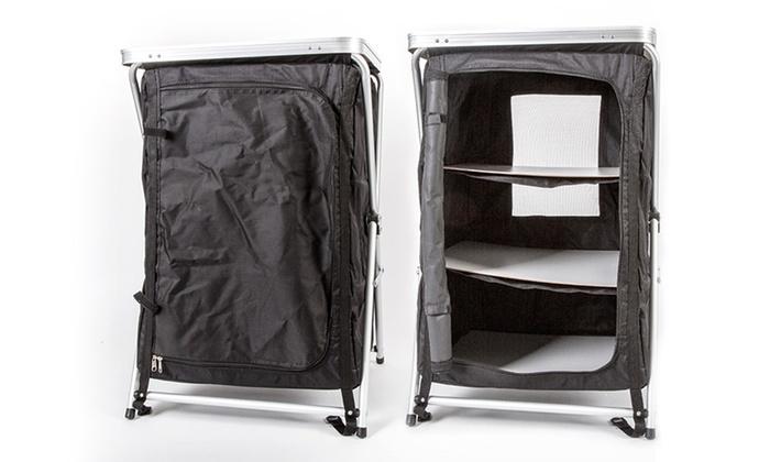 meuble de rangement pour camping groupon shopping. Black Bedroom Furniture Sets. Home Design Ideas