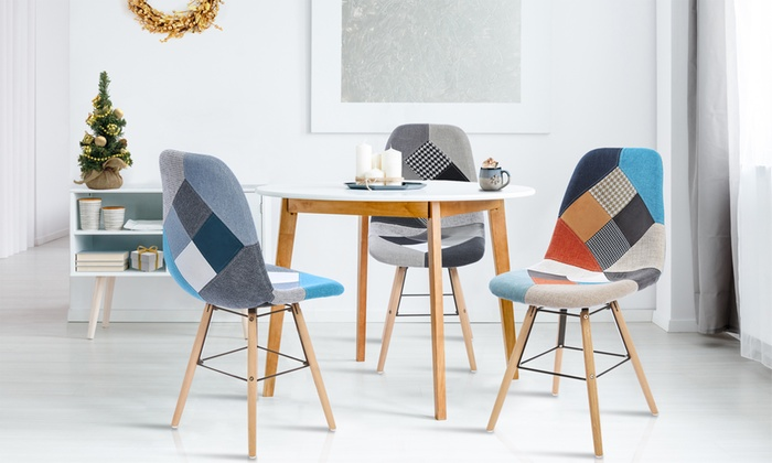 Lot Chaises Scandinaves Patchwork