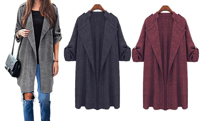 Women's Lightweight Open-Front Trench Coat for £9.98