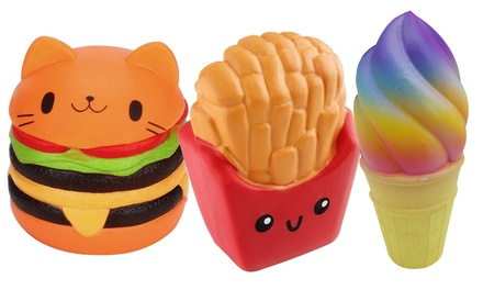Set of Three Fast Food Jumbo Slow Rise Squishies