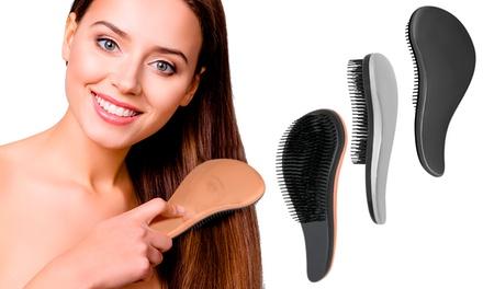 1x oder 2x Entwirrungs-Haarbürste zur Anwendung in trockenem und nassem Haar in Roségold, Grau oder Silber (Duesseldorf)