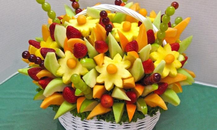 bouquet de fruits frais du jour au choix magic fruit design groupon. Black Bedroom Furniture Sets. Home Design Ideas