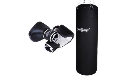 Bokszak en bokshandschoenen, gewicht naar keuze, voor € 59,99