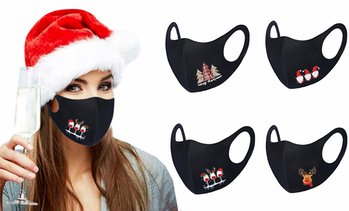 Unisex Christmas-Themed Face Mask