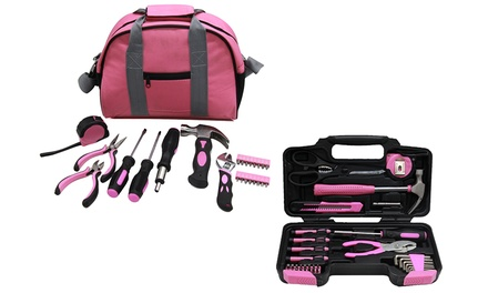 Hyfive 25 or 39Piece Pink Tool Kit
