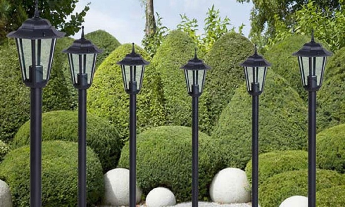 Set de 6 farolas para el jard n groupon goods for Farolas jardin