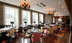 The Grill Room at the Square: Two-Course Meal with Carafe or Bottle of Wine for Two or Four at the Grill Room at 29
