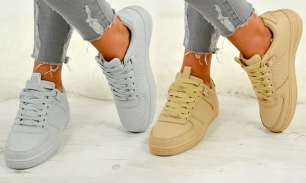 Womens Lace-Up Sneakers