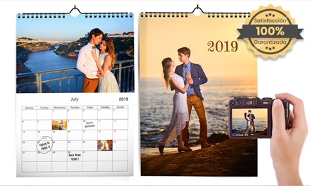 1, 2, 3 o 5 calendarios de pared personalizables en formato A4 en Printer Pix (hasta 86% de descuento)
