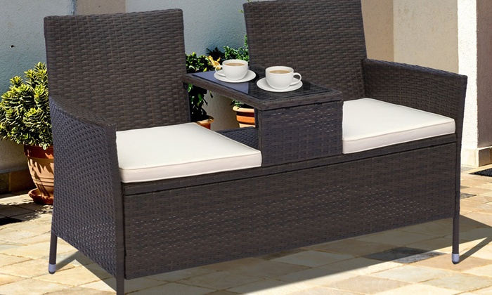 Outsunny Rattan-Effect Two-Seater Chair from £104.99