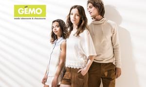 Gemo: Jusqu'à 200 € d'économie ! 40 % de réduction sur toute la collection en ligne GÉMO pour seulement 5 €