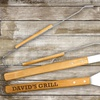 Engraved 3-Piece Wood Grilling Tool Set