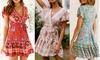 Women's Floral Mini Dress