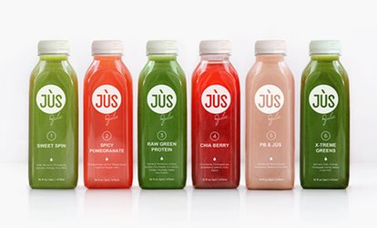 image for One-, Three-, or Five-Day Juice Cleanse from Jus by Julie (Up to 54% Off)