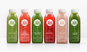 Up to 54% Off a Juice Cleanse from Jus by Julie  at Jus by Julie, plus 6.0% Cash Back from Ebates.