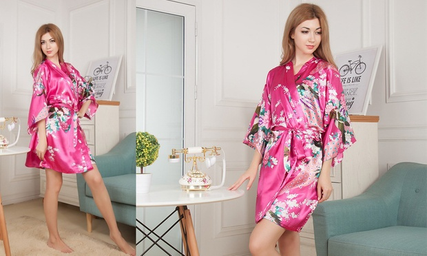 Floral Print Kimono Robe: One ($15) or Two ($25)
