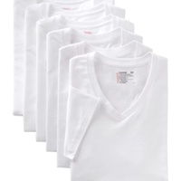 7-Pack Hanes Mens Crew Neck or V-Neck Undershirts