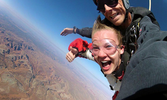 Skydive Moab - Skydive Moab: Tandem Skydive Jump for One or Two from Skydive Moab (34% Off)