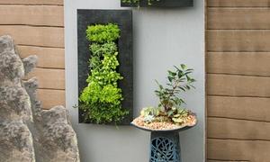 12-Pocket Galvanized Metal Indoor-Outdoor Wall Planter