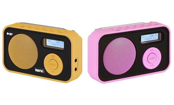 Imperial Dabman 12 Kofferradio in Pink oder Orange (17% sparen*)