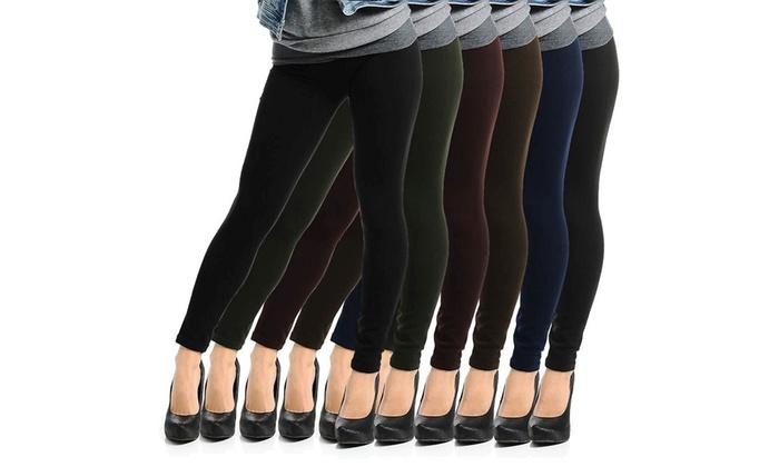 Women's French Terry Leggings (5-Pack)