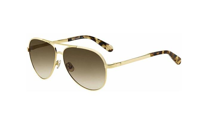 ab6aee149 Kate Spade Amarissa Women's Classic Aviator Sunglasses   Groupon