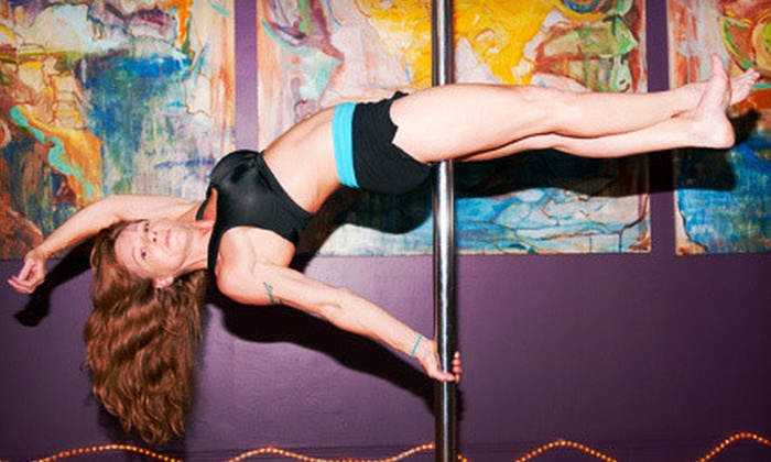 Tangent's Pole Aerobics - Atlantic-University: 5 or 10 Pole-Dancing Classes or Girls' Night Out Party for Up to Eight at Tangent's Pole Aerobics (Up to 61% Off)